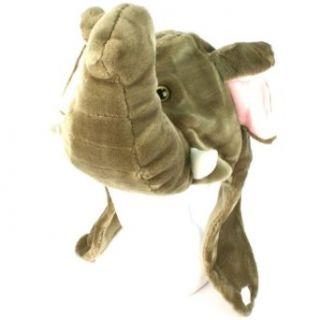 Faux Fake Fur Animal Plush Elephant Big Trunk Trapper Slip