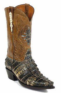 Black Jack Natural Alligator Tail Cowboy Boots Shoes