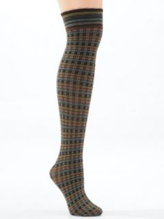 Microfiber Multi Colored Print Over the Knee Socks Womens