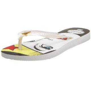 Havaianas Womens Wonder Woman I Thong,White,35/36 BR/5 6 M US Shoes