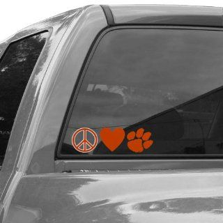 NCAA Clemson Tigers Peace, Love Car Decal Sports