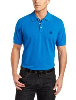 Timberland Mens Short Sleeve Solid Pique Polo, Imperial