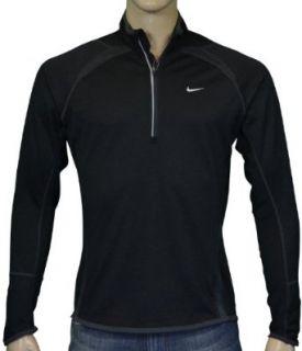 Nike Mens Wool Dri Fit Half Zip Running Shirt Black XL