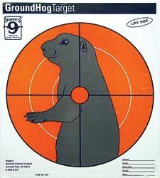 HOPPES GROUNDHOG PAPER TARGET 20/PK Sports & Outdoors
