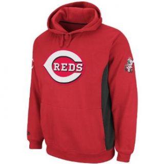MLB Mens Cincinnai Reds Capain Hooded Fleece Pullover
