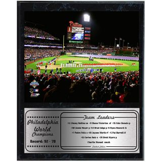 Phillies 2008 World Series Stadium 12x15 Black Plaque