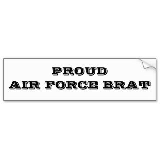 Bumper Sicker Proud Air Force Bra