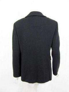 St. John Womens Caviar Black Knit Blazer 12 Clothing