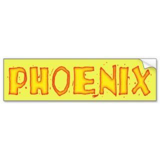 PHOENIX BUMPER STICKERS