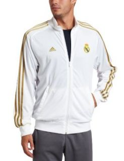 Real Madrid Core Track Top (White, Large) Clothing