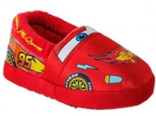Red Toddle Boys Cars Slippers Lightning McQueen House Shoes Shoes