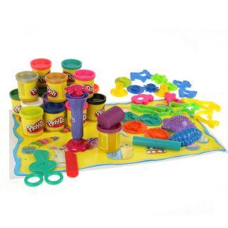 Play Doh   20 pots de pâte à modeler + 20 accessoires et 1 tapis   A