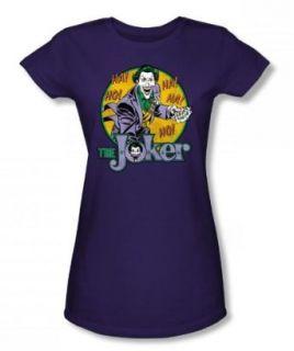 The Joker Juniors S/S T shirt in Purple by DC Comics