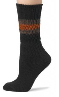 HUE Womens Striped Clog Socks, Espresso Clothing