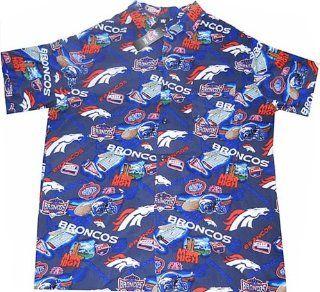 Denver Broncos NFL Team Apparel Hawaiian Shirt Big and