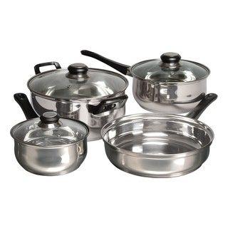 Alverton 7 piece Stainless Steel Glass lid Cookware Set