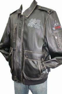 COOGI Leather Bomber Jacket Clothing