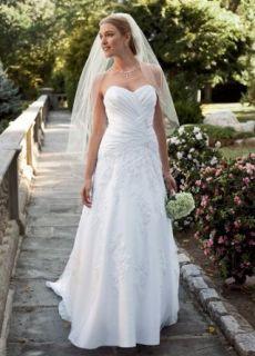 Davids Bridal Collection Wedding Dress: Petite Satin Gown