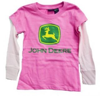 John Deere Girls Hangdown T Shirt Heliconia Clothing