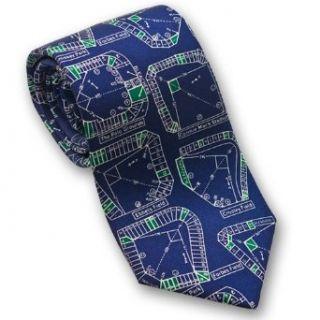 Baseball Stadiums   Mens Silk Necktie Clothing