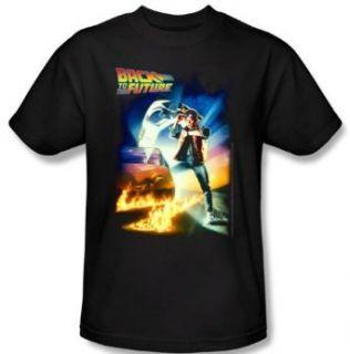 Back To The Future Kids T shirt Movie Poster Black Shirt