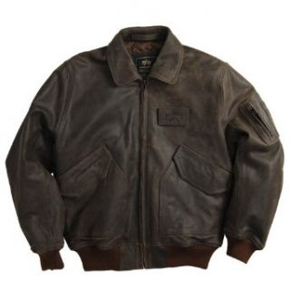 Alpha Industries CWU 45/P Leather Jacket Clothing