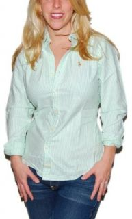 Polo Ralph Lauren Womens Slim Fit Pony Shirt Green 8