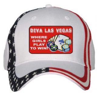 Diva Las Vegas USA Flag Hat / Baseball Cap Clothing