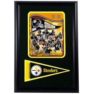 Steelers 2008 12x18 Framed Print with Pennant