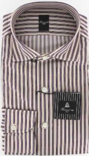 New Finamore Napoli Purple Shirt 15.75/40 Clothing