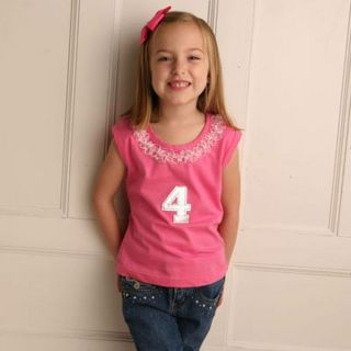 Sophias Style Girls Birthday Number T shirt
