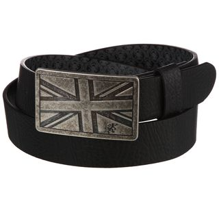 English Laundry Mens Black English Flag Belt