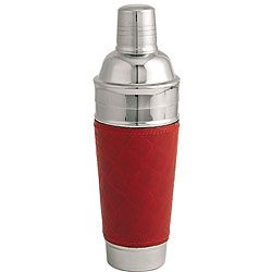 Red Leather 13 inch Martini / Cocktail Shaker