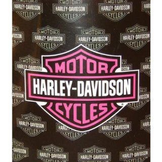 Harley Davidson Blanket   Pink Logo