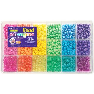 Beadery Brights Mix Giant Bead Box Kit with 2300 Plastic Beads Today