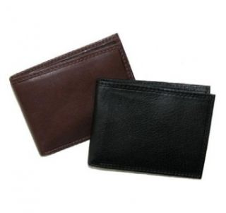 Paul & Taylor Mens Small Bifold Leather Wallet (Brown