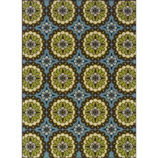 Blue/Green Outdoor Area Rug (710 x 10)