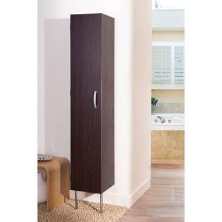 Zarina Walnut 6 shelf Wall mounted Bathroom Tower Cabinet