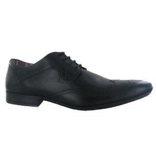 Clarks Glint Street Black Leather Mens Shoes Shoes