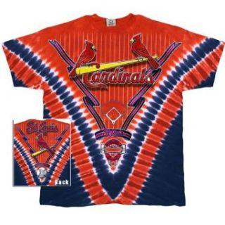 St Louis Cardinals   Logo V Dye T Shirt   X Large