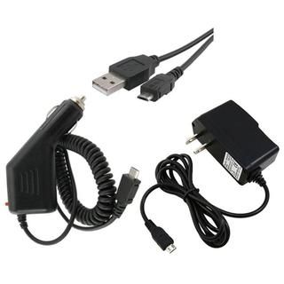 piece USB Cable/ Car and Travel Charger for LG LS670 Optimus S