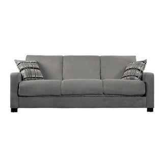 Portfolio Trace Convert a Couch Sage Green Microfiber Futon Sofa