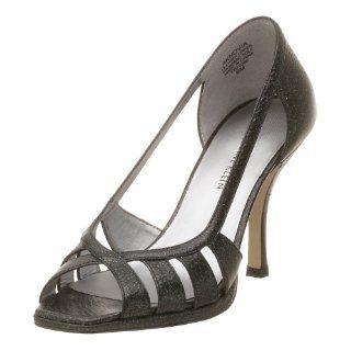 AK Anne Klein Womens Novia Dress Shoe,Black Leather,6 M Shoes