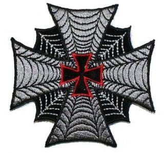 Maltese iron Cross Spiderweb Embroidered iron on