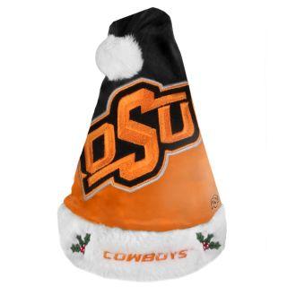 Oklahoma State Cowboys 2011 Colorblock Runoff Logo Santa Hat