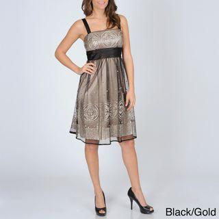 Richards Womens Mesh Overlay Party Dress