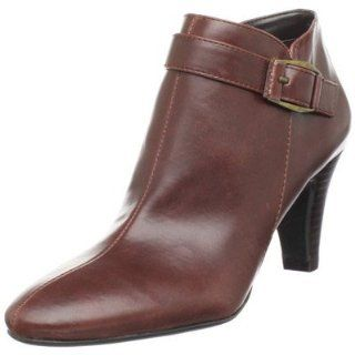 BANDOLINO FRENCHY COGNAC LEATHER ANKLE BOOT HEEL WOMEN 11 M Shoes