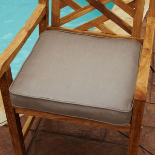 Clara Taupe 19 inch Square Outdoor Sunbrella Chair Cushion