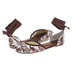 French Sole Cha Cha Brown Barroque Flats