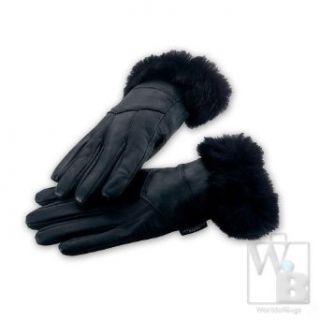 Leather Gloves W/Fur Trim  Xl Clothing